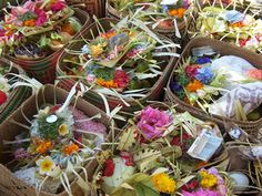 Ceremonial offerings are pervasive throughout Bali.  It is a very spiritual place