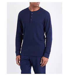 POLO RALPH LAUREN Waffle-texture cotton-blend pyjama top. #poloralphlauren #cloth #