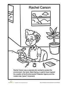 womens history month first grade history people worksheets rachel carson coloring page
