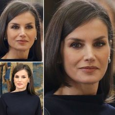 On February King Felipe and Queen Letizia of Spain attended the National Research Awards 2019 ceremony at Royal Palace of El Pardo. King Felipe and Queen Letizia handed out the awards to the awardees of National Research Awards. Spanish Royalty, Spanish Royal Family, Mein Style, Royal Palace, Queen Letizia, Royal Style, Reyes, Classy Outfits, Hair Inspiration