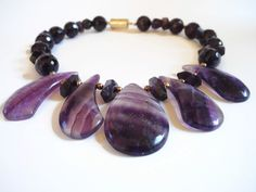 Purple+semi+precious+gemstone+beaded++by+FlorenceJewelshop+on+Etsy,+€85.00