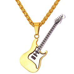 44baecdb48ae Cadena Prenda Guitarra Acero Inoxidable Para Hombre Mujer Oro Plata Guitar  Chain  Unbranded  Music