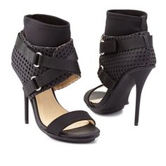 New Gwen Stefani black belted ankle heels / shoes Brand new! It comes with the box GX by Gwen Stefani Shoes Heels