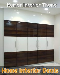 Wardrobe design bu Kumar interior Thane ongoing 3bhk project Dosti Imperia Manpada Thane #wardrobe #wardrobesdesign