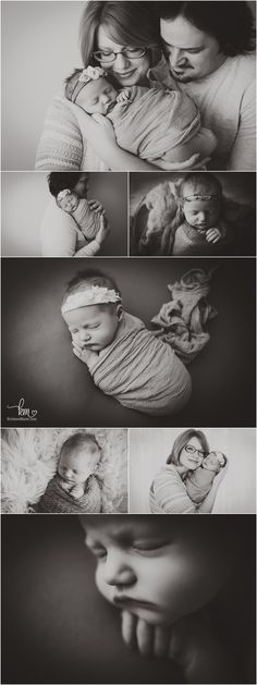 beautiful black and white newborn pictures