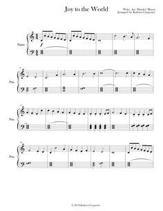 Joy to the World (Easy Piano, Level Christmas Piano Sheet Music, Christmas Music, Flute Sheet Music, Easy Piano Sheet Music, Printable Sheet Music, Digital Sheet Music, Music Lessons, Piano Lessons, Classical Piano Music