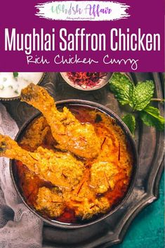 Mughlai Kesar Murgh is a royal Mughlai dish which has soothing flavour of chicken, spices, fresh cream and saffron. Savour it with any Indian flatbread. Fried Fish Recipes, Chicken Recipes, Chicken Spices, Chicken Curry, Duck Recipes, Easy Recipes, Saffron Chicken, Indian Cookbook, Indian Food Recipes
