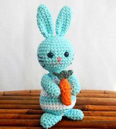 PDF Crochet Pattern for Amigurumi Bunny by HerterCrochetDesigns, $0.99