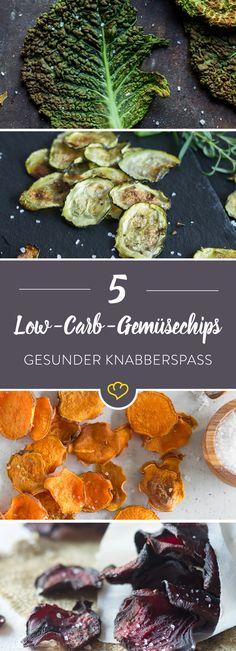 Aller guten Dinge sind 5! Knusprige Low-Carb-Gemüsechips