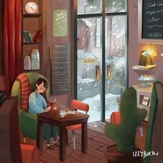 Retirement Quotes For Teachers Etsy Winter Illustration, Cute Illustration, Art Illustrations, People Reading, Reading Art, Art Graphique, Aesthetic Art, Graphic, Cute Art