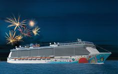 Norwegian Breakaway will Light Up the Night with a Fireworks Show on Every Cruise  @Norwegian Cruise Line