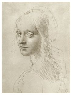 """Girl's face"" (1483) by Leonardo da Vinci"