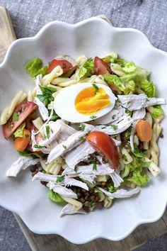 Ukemeny for uke 28 Aioli, Cobb Salad, Squash, Bacon, Turkey, Eggs, Chicken, Food, Peru