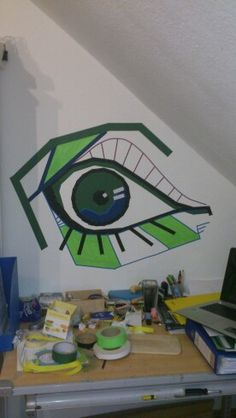 Klebeband Auge