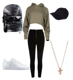 """""""Alors ? ❤"""" by chapon-melina on Polyvore featuring River Island, NIKE and Reclaimed Vintage"""