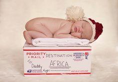 Army Newborn Photography, Military Newborn,  Deployment