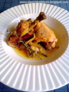 El Secreto de Boro: Pollo con ajos tiernos y Mistela
