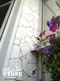 """Мастерская MarineStone. Декор балкона в Иркутске, Ангарске. Декоративный камень - """"Сланец пластинчатый"""" (бутовый камень)"""