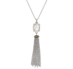 Emma Skye Crystal Gemstone Tassel Necklace
