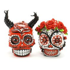 Sugar Skull Wedding Cake Toppers - http://amzn.to/NcgqTb More Skull Cake Toppers by GoodieMud - http://amzn.to/1hjREf9