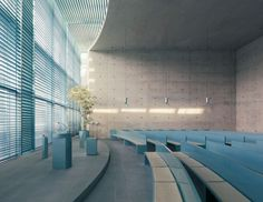 Image 8 of 19 from gallery of Crematorium Baumschulenweg / Shultes Frank Architeckten. Photograph by Mattias Hamrén Sacred Architecture, Religious Architecture, Church Architecture, Interior Architecture, Hall Design, Church Design, Church Interior, Interior And Exterior, Berlin Museum