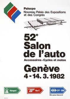 Geneva Car-Show 1982 T 4, Car Show, Vintage Posters, The Originals, Exhibitions, Poster Vintage