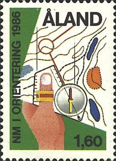 An orienteering stamp from Finland! Cool!