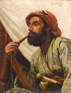 Handmade oil painting reproduction of William Cooper Portrait Of A Man Smoking A Hookah - on canvas and available in any size or choose another work from more than 250,000 different oil paintings and 25,000 artists. The highest quality paintings and great customer service!