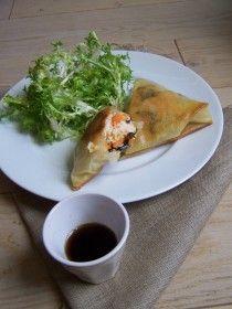 Samousas au poulet, carotte et champignons noirs