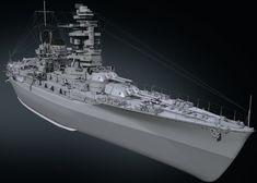 IJN Nagato by Dmitriy Mironov on ArtStation. Imperial Japanese Navy, 3d Modelle, Nagano, Military Weapons, Battleship, Art Pictures, Wwii, Ships, Tanks