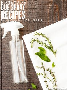 Keep bugs away naturally with these all natural homemade bug spray recipes, made without essential oils. Just a few ingredients you have in the kitchen.