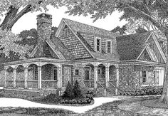 Caldwell clein this is a cute plan- enlarged the screen porch, add a bath upstairs and create ceilings on the main floor widen the kitchen dining enough for an island Southern Living House Plans, Cottage House Plans, Cottage Homes, Cottage Ideas, Victorian House Plans, Victorian Homes, Best House Plans, House Floor Plans, Microsoft Word