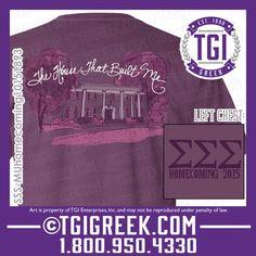 TGI Greek - Sigma Sigma Sigma - Hand drawn design - Greek T-shirts - Comfort Colors #tgigreek #sigmasigmasigma #handdrawn