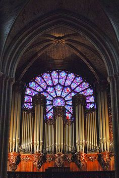 The splendid Great Organ of Notre-Dame Cathedral