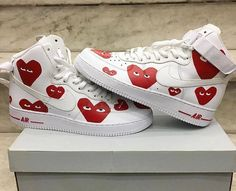 Swag Shoes, Cute Sneakers, Aesthetic Shoes, Comme Des Garcons, Sneaker Boots, Trendy Shoes, Custom Shoes, Types Of Shoes, Shoe Game