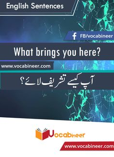 Learn English vocabulary in Urdu. English through Urdu made easy. Easiest way to learn English vocabulary in Urdu. English to Urdu Vocabulary. English Speaking Practice, English Learning Spoken, Learn English Grammar, English Vocabulary Words, Learn English Words, English Phrases, English Language Learning, English Study, Simple English Sentences