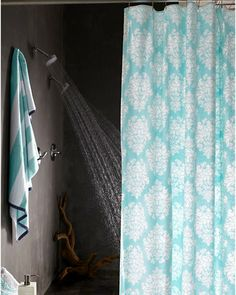 Ikat Medallion Reversible Shower Curtain