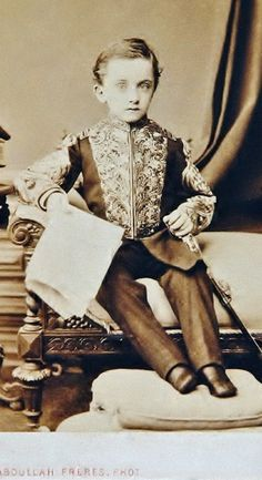 Şehzade (Prince) Mahmud Celaleddin (1862-1888), a son of Ottoman sultan Abdülaziz, (r: 1861-1876).  The portrait was made in 1869.