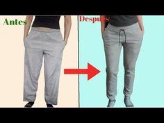 DIY de SUDADERA CLASICA a JOGGER de mujer - YouTube Bubbles Wallpaper, Refashion, Parachute Pants, Joggers, Hacks, Youtube, Shorts, Sewing, Videos