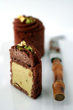 Chocolate and Pistachio Mousse Cakes FoodBlogs.com