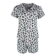 Women's Plus Size Leopard Print Short Pajama Set with Notch Top by PJ Couture | Plus Size Pajamas at BeltOutlet.com Plus Size Pajamas, Leopard Print Shorts, Calvin Klein Underwear, Plus Size Fashion For Women, Pajama Shorts, Couture, Latest Fashion Trends, Pajama Set, Plus Size Outfits