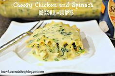Back For Seconds: Cheesy Chicken and Spinach Roll-Ups