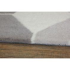 Light Silver Grey Color Area Rug