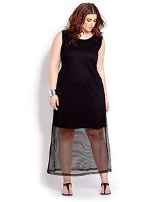 Michel Studio Mesh Maxi Dress ( Additionelle ) - $ 95.00