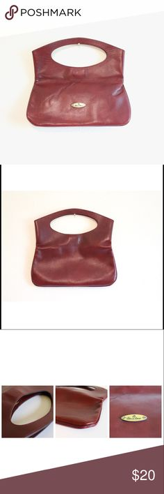 Vintage Etienne Aigner Clutch, Oxblood Leather Perfect small burgundy  leather clutch made by Etienne Aigner a5aeaff486