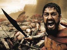 "300. My favorite movie to hit ""pause"" in... Much like guys used to do for Baywatch back in the day.. Haha"