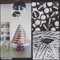 Contemporary Macaron Tower/ Pyramid for corporate event