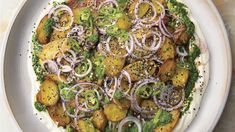 Chaat Masala Potatoes with Yogurt and Tamarind