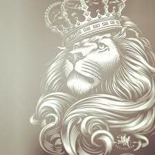 lion with a crown drawing - love this with maybe roses above on shoulder for half sleeve