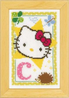 Hello Kitty Alphabet Letter C Cross Stitch Kit By Vervaco